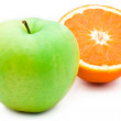 Royalty-Free Stock Photo: Orange and apple