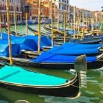 Gondolas on Grand Canal — Stock Photo #1009702