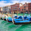 Venetian gondolas — Stock Photo