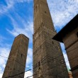 Leaning towers of Bologna — Stock Photo