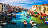 Canal grande in venetië rialto bridge — Stockfoto