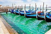 Gondola boats in Venice — Stock Photo