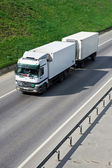 White truck on a highway — Stock Photo