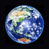 3 boyutlu model dünya küre, asya, yüksek çözünürlüklü görüntü — Stok fotoğraf