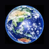 Modello 3d di terra globo, asia, alta risoluzione immagine — Foto Stock