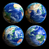 Four Globes — Stock Photo