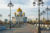 Cathedral of Christ the Saviour in Mosco — 图库照片