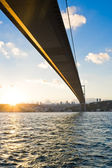 Bosphorus Bridge at sunset — Stock Photo