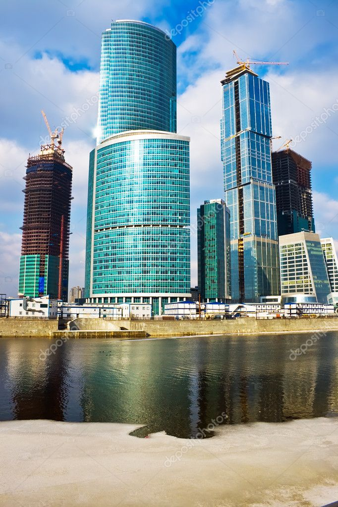 Skyscrapers construction in the International Business Centre, Moscow — Stock Photo #1009150