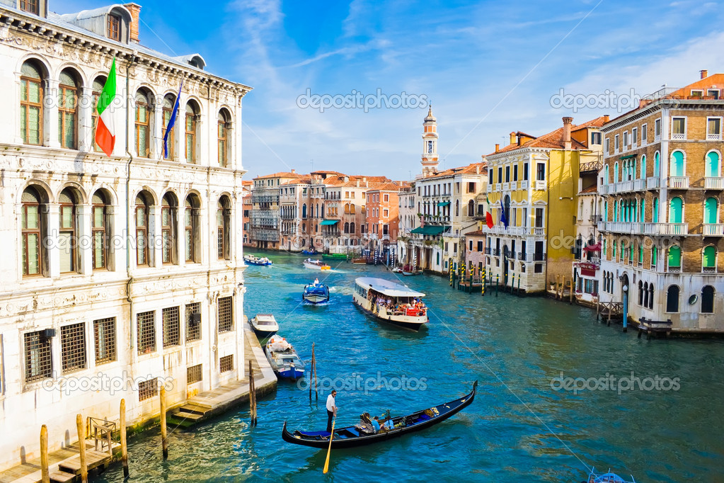Grand Canal, the most important canal in Venice, Italy — Stock Photo #1009699