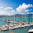 White yachts in port — Stock Photo #1010175