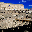 Inside Roman Colosseum — Stock Photo