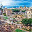 Ancient Forum in Rome - Stock Photo