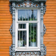 Traditional russian window — Stock Photo