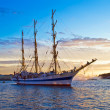Old frigate on Neva river — Stock Photo #1014765