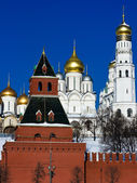 Moscow Kremlin and Churches — Stock Photo