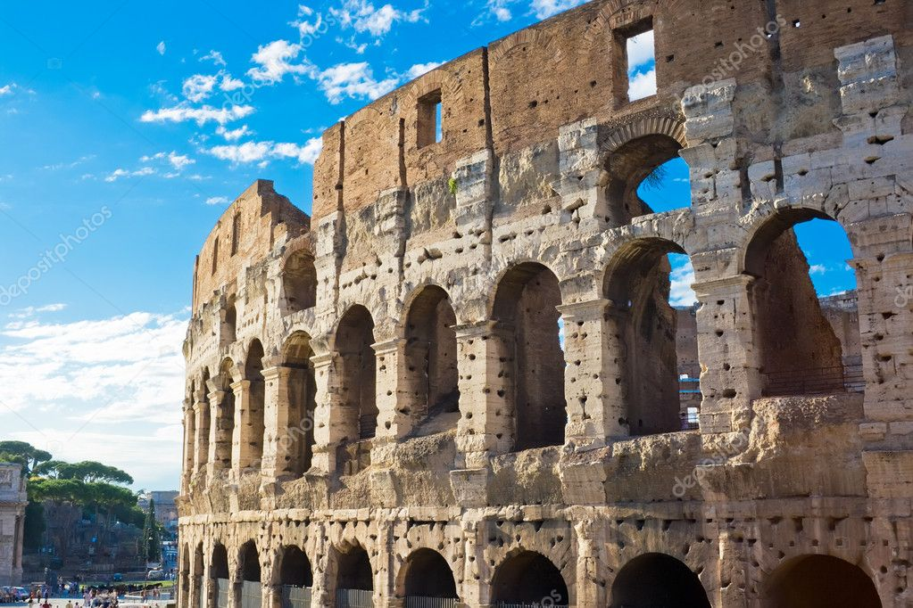 Ruins of great stadium Colosseum, Rome, Italy — Foto Stock #1010202