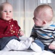 Stock Photo: Two little babies