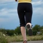 Jogging female — Stock Photo