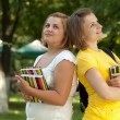 Students at campus — Stock Photo #1074629