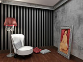 3d interior — Stockfoto