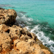 Sea landscape with rock, Cyprus. — Stock Photo
