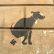 Stock Photo: Graffiti dog