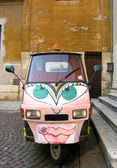 Car with graffiti — Stock Photo