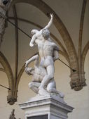 Rape of the Sabines, Florences — Stock Photo