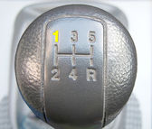 Close up of a Car Gear Shift — Stock Photo