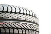 Close view of a tire. — Stock Photo