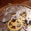 Internal mechanical clockworks old watch — Stock Photo #1268845