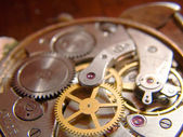 Internal mechanical clockworks old watch — Stock Photo