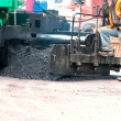 Stock Photo: Asphalt Paving Machine