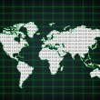 Royalty-Free Stock Photo: World map with binary code