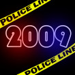 New 2009 year crimescene — 图库照片