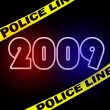 New 2009 year crimescene — Lizenzfreies Foto