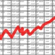 Stock market chart — Stock Photo