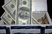 Dollars in the box — Stock Photo
