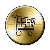 E-shop button — Stock Photo