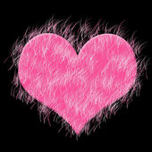 Pink heart — Stock Photo