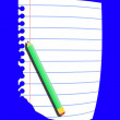 Sheet of paper and pencil — Stock Photo