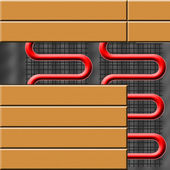 Floor heating — Stock Photo