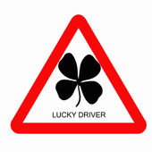 Lucky driver — Stock Photo