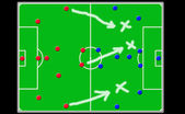 Soccer coach board — Foto de Stock
