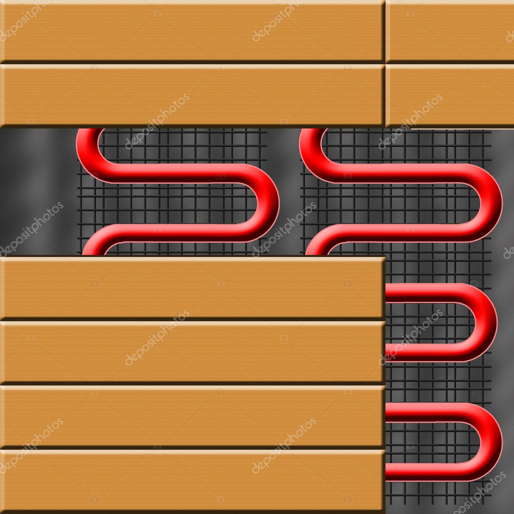 Floor heating — Stock Photo © Velliton #1265823 #BD0E0E
