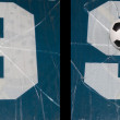 Number nine broken glass and ball — Stock Photo