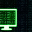 Stock Photo: Binary code in monitor