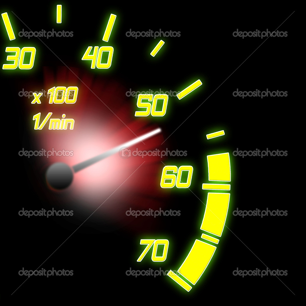 Illustration of the speeding car odometer part — Stock Photo #2403301