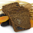 Royalty-Free Stock Photo: Black bread with fruit